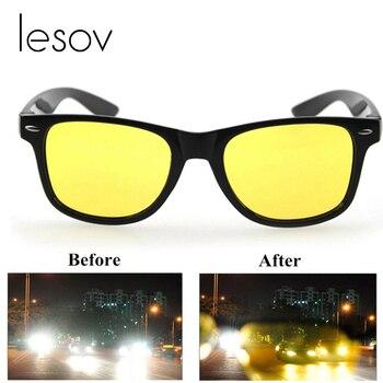 Lesov الرجال نظارات للرؤية الليلية يوم نظارات المرأة المضادة للوهج hd الرؤية الاستقطاب عدسة الأصفر للجنسين الدراجات القيادة نظارات