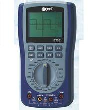 ET201 dependendo da forma de onda de armazenamento portátil, o osciloscópio multímetro, mais versátil inteligente multímetro.