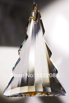 crystal christmas tree ornament 40pcs/lot  76mm suncatcher prism pendant