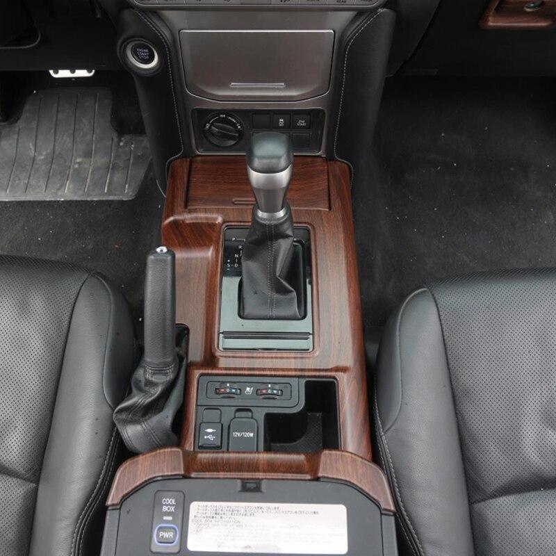 Gelinsi pour Toyota Prado 2018 voiture style bois support de verre panneau couverture garniture cadre autocollant accessoires d'intérieur - 6