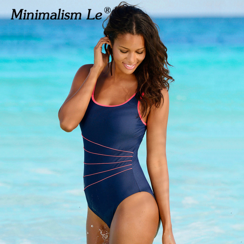 Minimalism Le 2018 New One Piece Swimsuit Line Biquini Swimwear Women Sexy Bikinis Brazilian Bathing Suit Bathing Suits