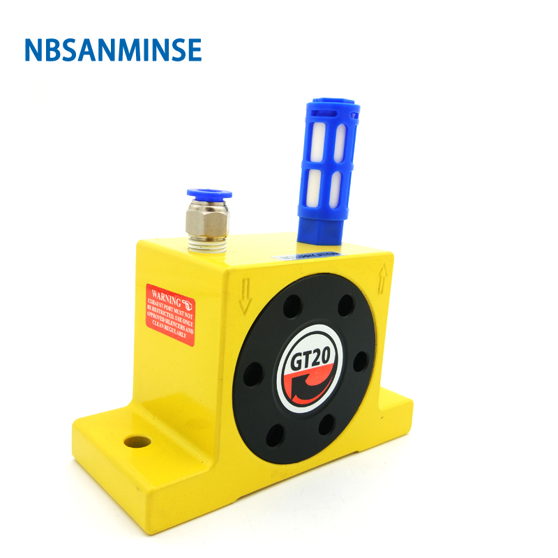 NBSANMINSE GT 1 8 1 4 Pneumatic Turbine Vibrator Air Vibrator Low Pressure For food and pharmaceutical industries in Pneumatic Parts from Home Improvement