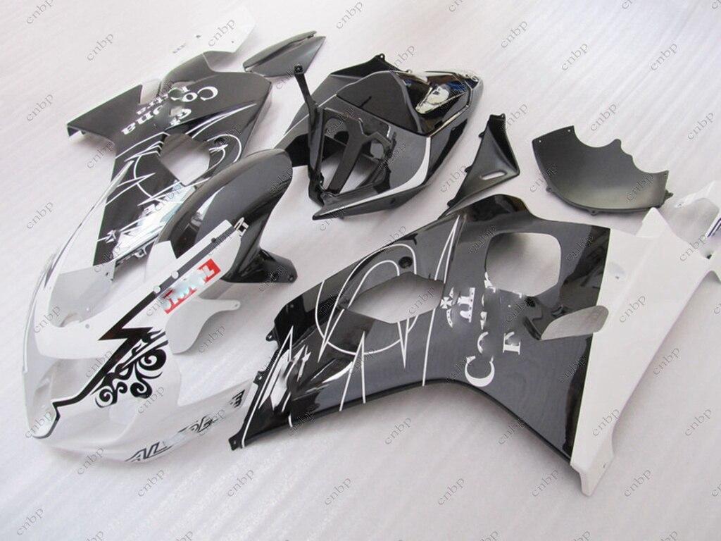Fairing for Suzuki GSXR750 05 Fairings GSX R600 04 2004 - 2005 K4 Black White for corona Plastic Fairings GSX R600 04