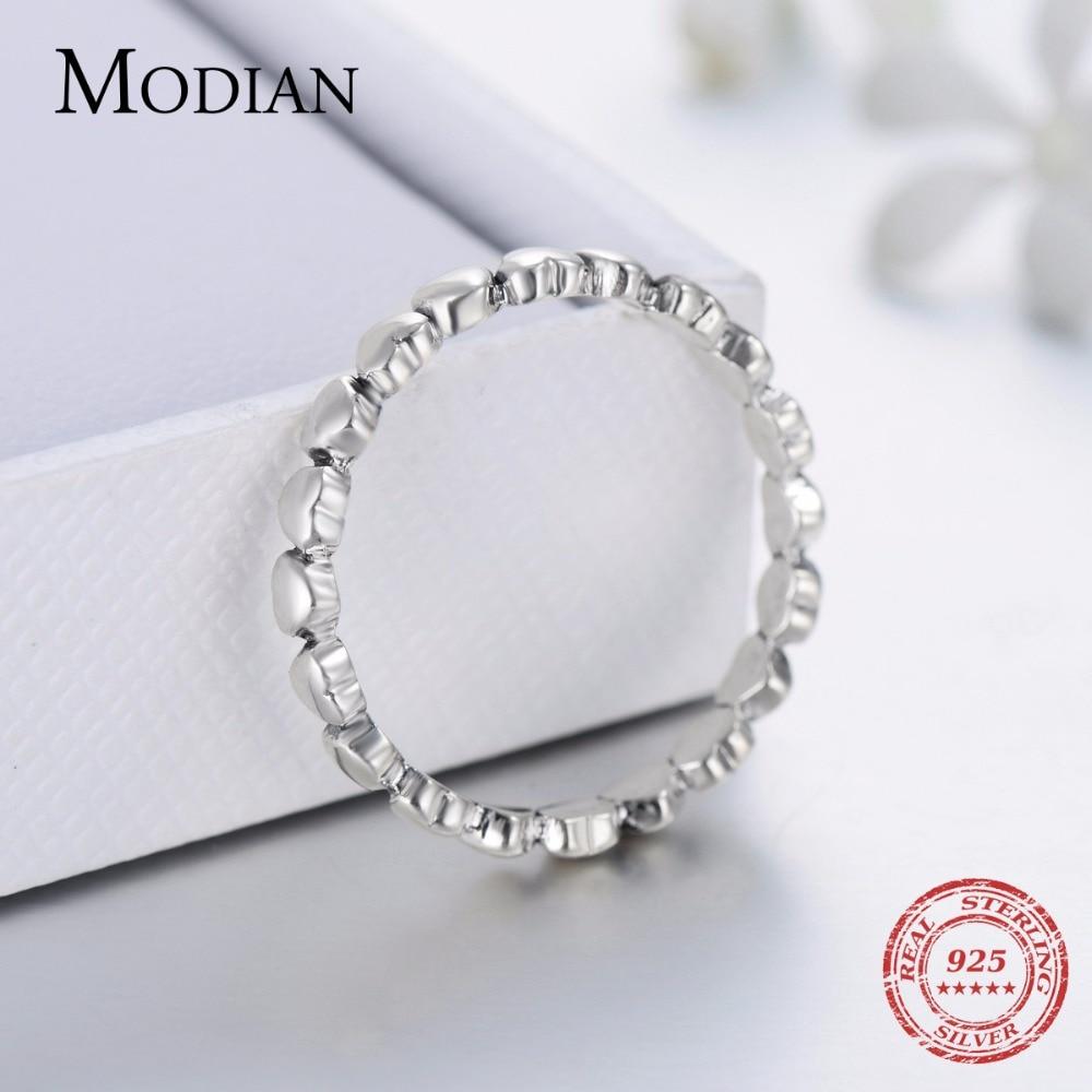 Hot Otentik Asli Mode 100% Padat 925 Sterling Silver Jantung Cincin - Perhiasan fashion - Foto 6