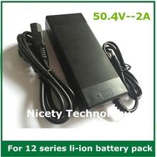 50.4V2A chargeur 50.4V 2A lithium li ion chargeur pour batterie au lithium 12S