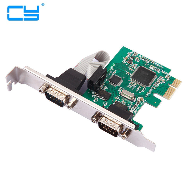 2 Port RS232 RS-232 Serial Port COM para PCI-E PCI Express riser Cartao Adaptador Conversor TX382B chipest atacado контроллер pci e 2 com купить минск