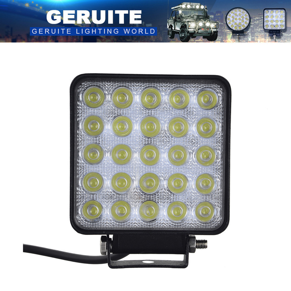 75W Spotlight 25x3W 12-24V 7500 LM Bil LED Lys Bar Som Work Spot Light For Båt Jakt Fishing Party Outdoor Lighting