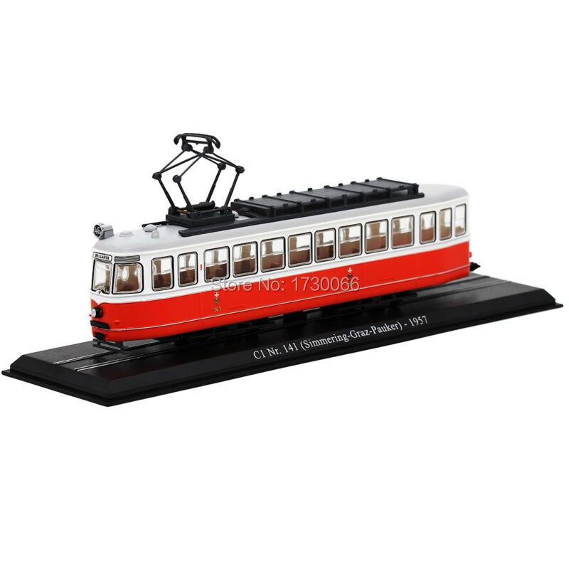 Miniature Model Train 1 87 Scale Atlas Tram Model C1 NR 141 Simmering Graz Pauker 1957