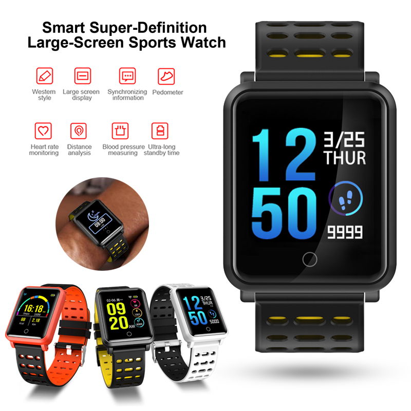 N88 Waterproof Smart Watch Blood Pressure Heart Rate Monitor Pedometer Calorie Activity Tracker Smartwatch For Android IOS цена и фото
