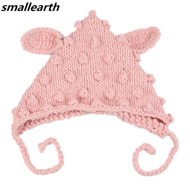 fd960983b77 2018 New Fashion Children Rabbit Ear Handmade Crochet Hat For Girls Boys  Autumn Winter Baby Beanies