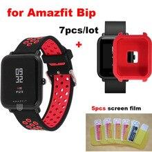 7 piezas Amazfit Bip poco reloj de pulsera Correa 20mm para Xiaomi Original Huami Amazfit Bip poco Correa de silicona suave reloj de pulsera de la banda