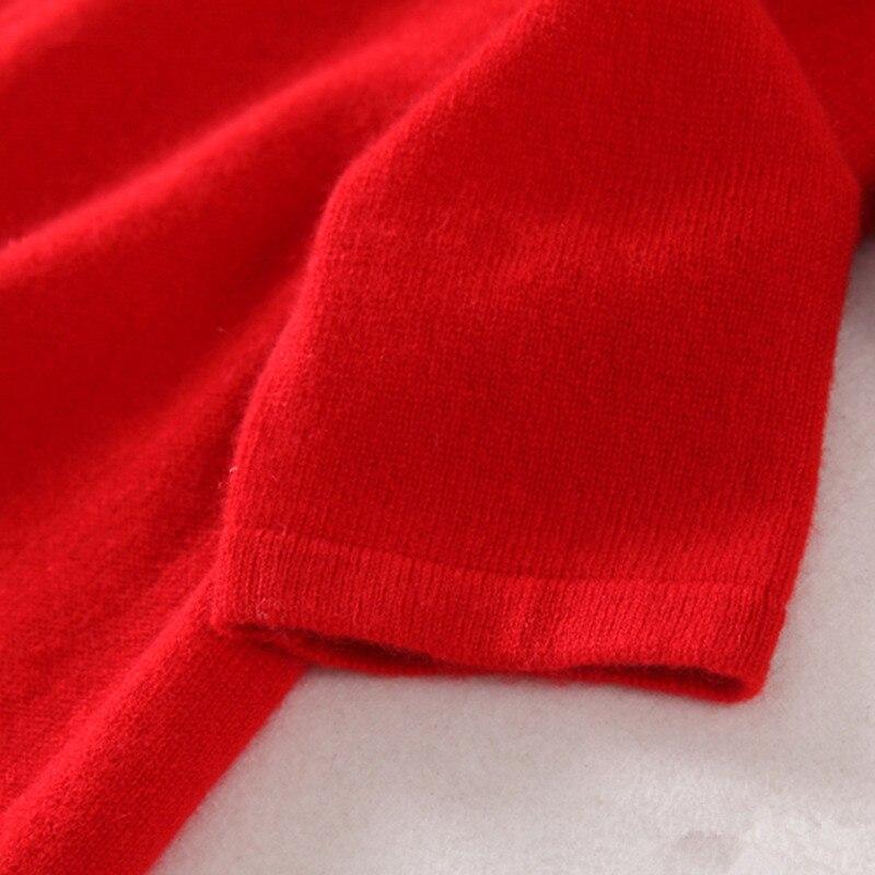 Женское трикотажное платье свитер высшего качества из 100% кашемира в стиле cheongsams, с длинными рукавами, бежевый, красный, серый, 3 однотонных ц... - 6