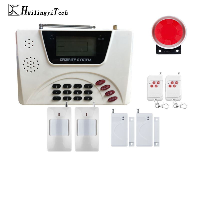 GSM Alarm Wireless SIM Home Alarm System RFID Burglar Security LCD Keyboard WIFI Home Alarm System Sensor kit for House Security