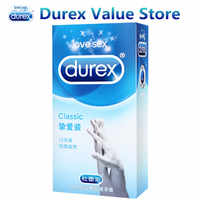 Lubrificante Durex Clássico Preservativos Ultra Finos Extra Natural Látex Lubrificado Preservativos para o Sexo Masculino e Feminino Adulto Brinquedos Sexuais Produtos