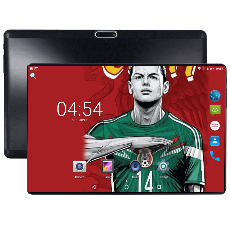 Super Tempered 2.5D Glass 10 Inch Tablet Android 8.0 Octa Core 4+64 GB ROM 1280*800 IPS Screen Ultra Thin Tablets 10.1 + Gift