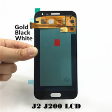 LCD Replacement for Samsung Galaxy J2 J200 J200F J200H LCD Display Screen Digitizer Assembly – Black/White/Gold with Free Tools