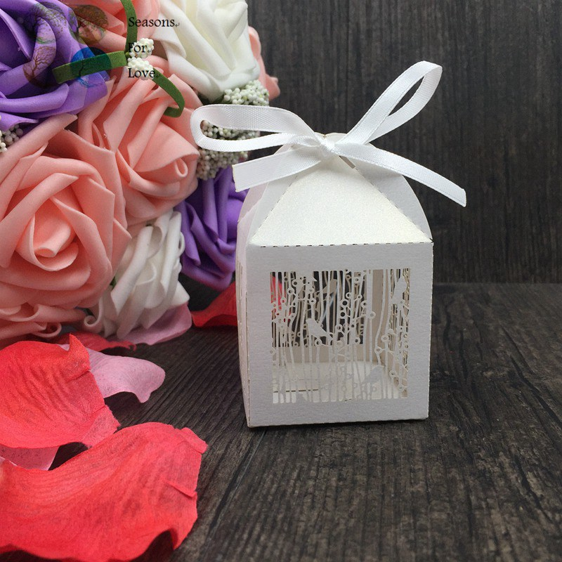 50p Laser Cut Wedding Favors And Gifts For Guests Partydecor Laser
