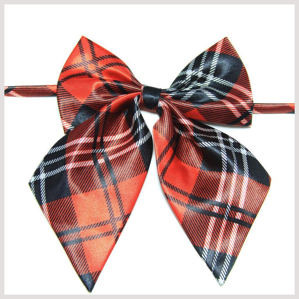 2018 plaid collars for women cravat butterfly bow tie gravata corbatas