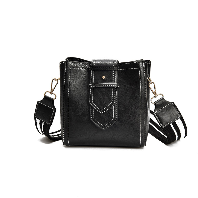 Fashion Large Capacity Leather Bucket Bags Double Strap Female Wide Shoulder Bags Women Handbag Ladies Crossbody Messenger Bags 2017 women bucket bags lady cowhide genuine leather shoulder strap messenger bags female simple fashion casual chains mini bags