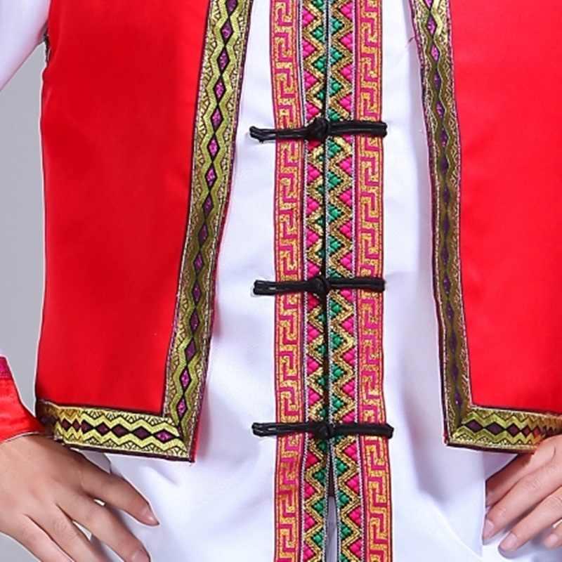 Hmong männer kleidung nationalen Chinese folk dance thnic moderne hmong kleidung dance kostüme klassische hmong kleidung design FF1973