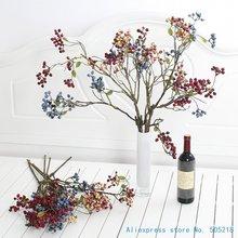1 шт. Гибкий Длинный мягкий стебель красивый Искусственный Буш ветка ягод украшение дома подарок F442