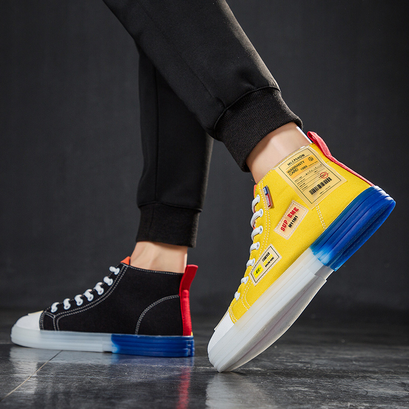 Shoes Men Casual Canvas Summer Breathable Golden Gooses Sneakers Male Fashion Mandarin Duck High-top Heels Double-color Shoes