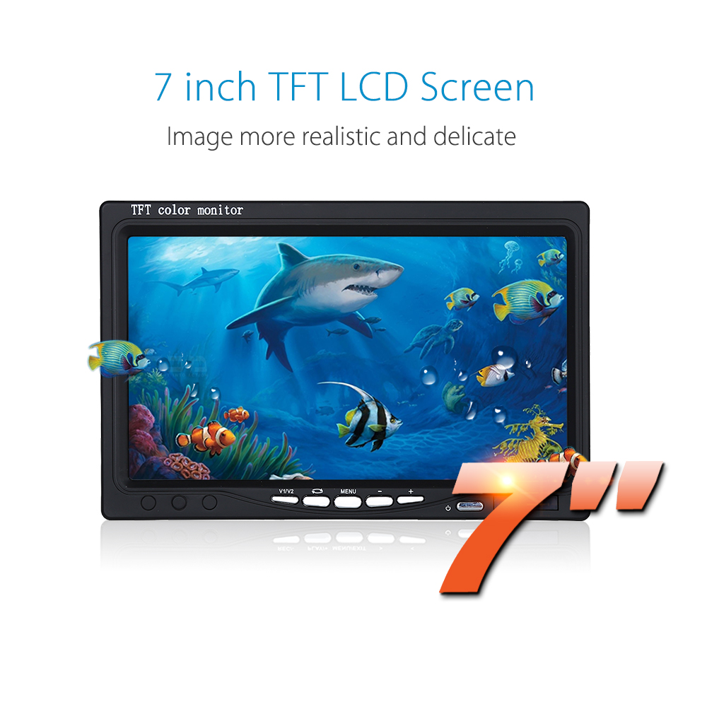 Eyoyo Single 7 LCD Monitor Without DVR function for Eyoyo Fish Finder Underwater Fishing Camera underwater 30m 600tvl dvr av endoscope camera with 7 inch lcd monitor