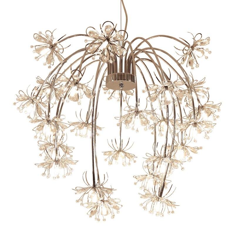 Art decor design moderno lampadario di cristallo di illuminazione AC110V 220 V lustro cristal LED sala da pranzo soggiorno luci