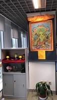 140 см большой Топ ручной шелк танка Тибетский Буддизм Тханг га эффективные защиты Зеленая Тара Бодхисаттва тара Будда art