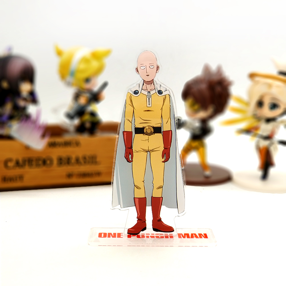 Love Thank You One Punch Man Saitama acrylic stand figure model plate holder cake topper font