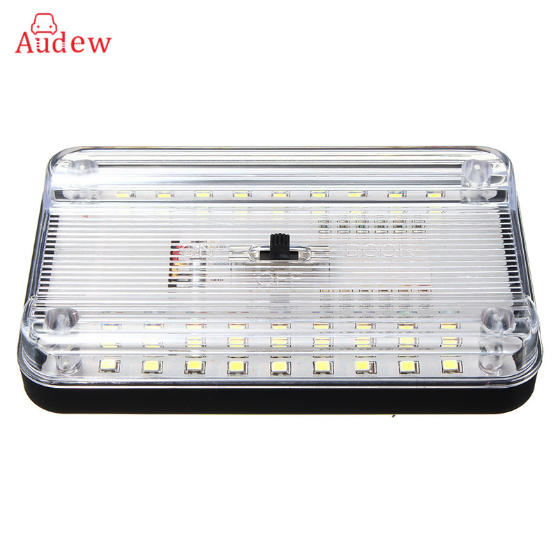цена на Universal 12V 36 LED Car Truck Auto Van Vehicle Ceiling Dome Indoor Roof Interior Light Lamp White Car Styling