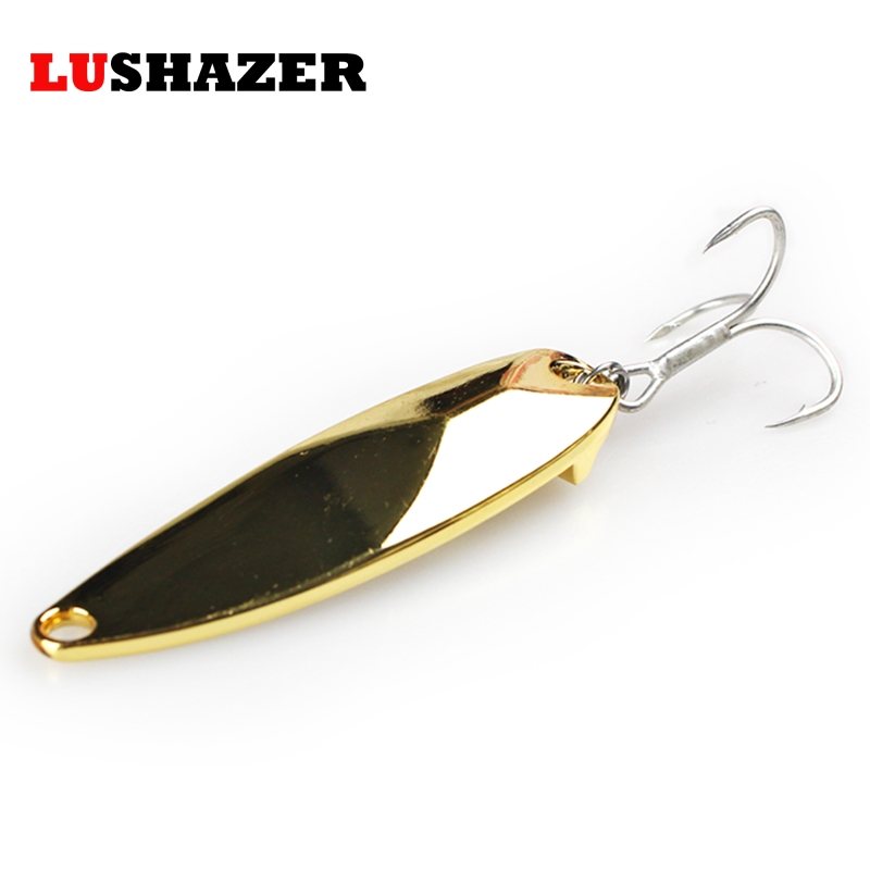 LUSHAZER fishing bait 15g 20g 25g carp fishing wobbler spoon lure metal baits isca artificial hard lures China spinnerbait lushazer dd spoon fishing lure 5g 10g 15g silver gold metal fishing bait spinnerbait treble hook hard lures china free shipping
