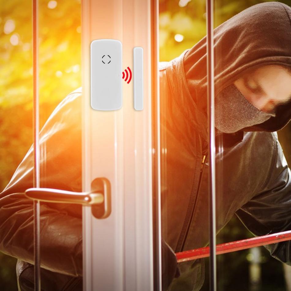 433MHz Wireless Door Window Magnetic Detector Sensor For Home Security Alarm System 100% New wireless vibration break breakage glass sensor detector 433mhz for alarm system