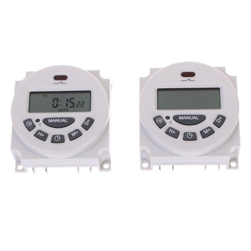 Temporizador electrónico temporizador programable semanal LCD Digital cc 12V AC220V 125KHz RFID duplicador copiadora escritor programador escritor ID Card Cloner & key