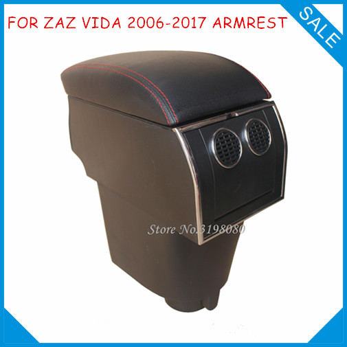 FOR ZAZ VIDA 2006-2017 No drill in car 8pcs USB Armrest,Car center arm rest console box with hidden cup holder Car Accessories
