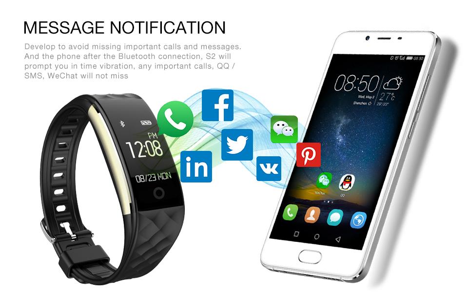 Lemado S2 Bluetooth Smart Band Wristband Heart Rate Monitor IP67