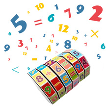 Mathematics Numbers Magic Cube STEM Educational Toys Kids Math Funny Learning Puzzle Game Digital Add Subtract Multiply Divide monkey number balance math toys match balancing scale game board game educational toy for child to learn add and subtract