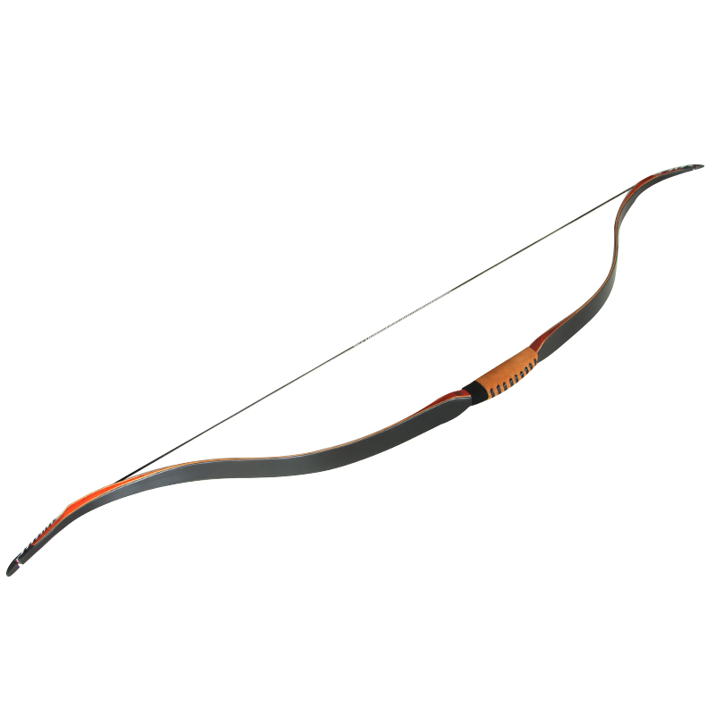 30-45lbs 50inch Archery Traditional Bow Black Shooting Hunting Recurve Bow for outdoor Sports Game laminated wood fiberglass new 1 piece hotsale black snakeskin wooden recurve bow 45lbs archery hunting bow