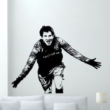 Lionel Messi Wall Decal Famous People Sticker Football Player Art Decor Vinyl Mural AY310