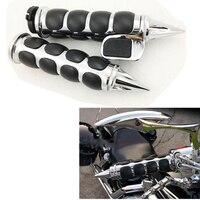 1 25mm Hand Grips Handlebar For Harley FXDB Street Bob Night Train FLSTC Heritage Softail Classic for Honda Shadow 600 VLX DLX