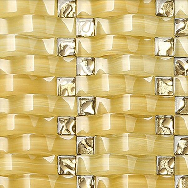 crystal arch design glass tiles backsplash ideas iridescent glass ...