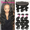 Brazilian virgin hair with frontal closure ear to ear lace frontal brazilian body wave 3bundles with frontal grace hair products