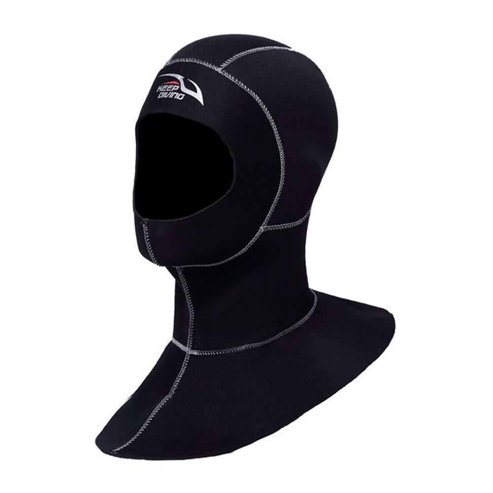 3mm Neoprene Scuba Diving Hood With Shoulder Snorkeling Equipment Hat Cap Swim Ear Warm Wetsuit Spearfishing Head Protect