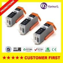 3X черный для PGI-450 PGI450 PGI 450 картридж для Canon PIXMA MG5440/MG5540/MG6340/MG6440/ MG7140/Ip7240/MX924/IX6540/IX6840