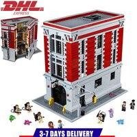Лепин супер герой Охотники за привидениями Firehouse штаб строительные блоки комплекты Наборы кирпич детей игрушки Marvel Совместимость Legoings 75827