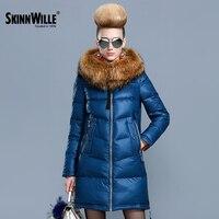 Skinnwille 2017 ultralekki kobiety dół kurtki kobiety dół zima w dół kurtki kobiety krótki kobiety z kapturem ciepły płaszcz zimowy płaszcz
