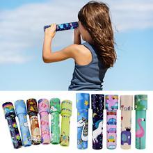 Классические игрушки калейдоскоп вращающаяся Волшебная цветная игрушка для детей аутизм детская игрушка-Паззл подарок случайного цвета размер S L