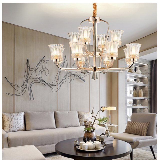Aliexpress Buy LED Chandelier Gold Plated Stainless Steel
