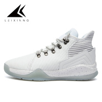 2019 New Men Basketball Sneakers Men Breathable Anti slip Zapatillas De Baloncesto Lace Up Sport Ankle Boots Shoes Off White