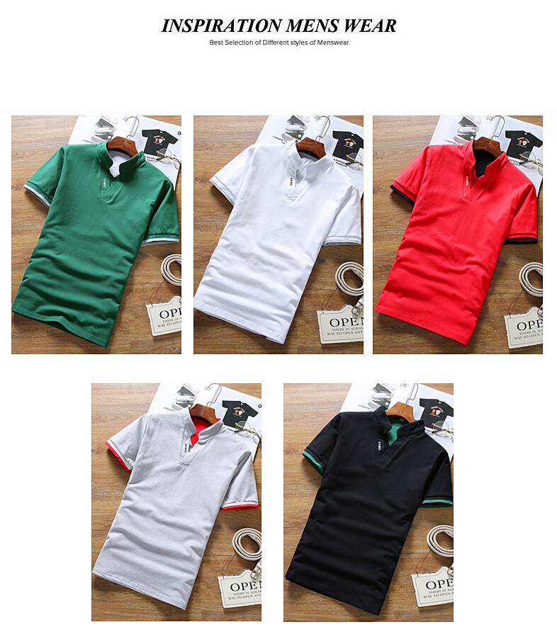 2019 New Arrival Cotton Men Polo Shirt Tops Fashion Brand Plus Size Short Sleeve Black White Polo Shirt Homme Camisa 5XL 17